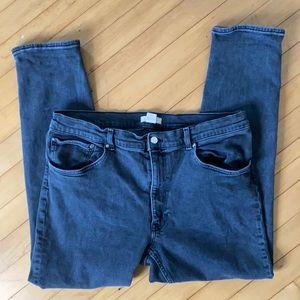 H&M gray denim stretch skinny jeans